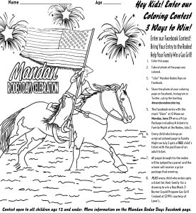 Hey kids! Enter our Coloring Contest! | MandanRodeo