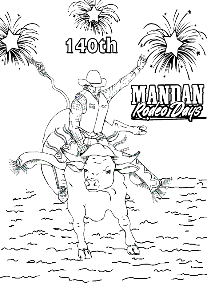 Hey, kids! Enter our coloring contest. – MandanRodeo